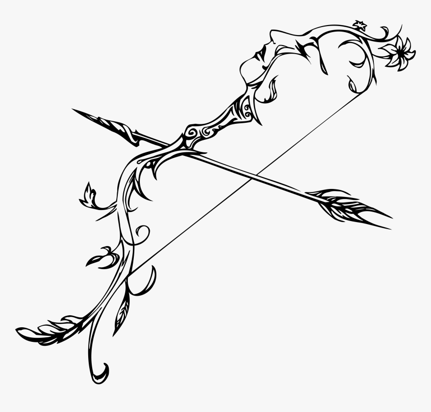 Arrow, Hand Drawn Arrows, Decorative Arrow, Ethnic - Detailed Bow And Arrow Drawing, HD Png Download, Free Download