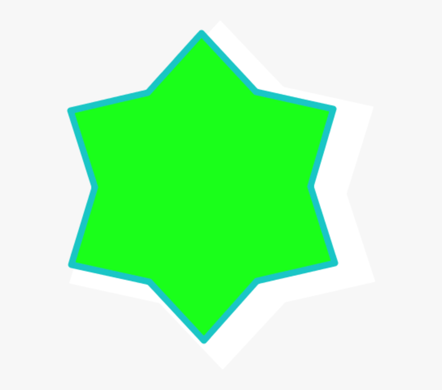 Transparent 6 Point Star Png - 6 Pointed Star Green, Png Download, Free Download
