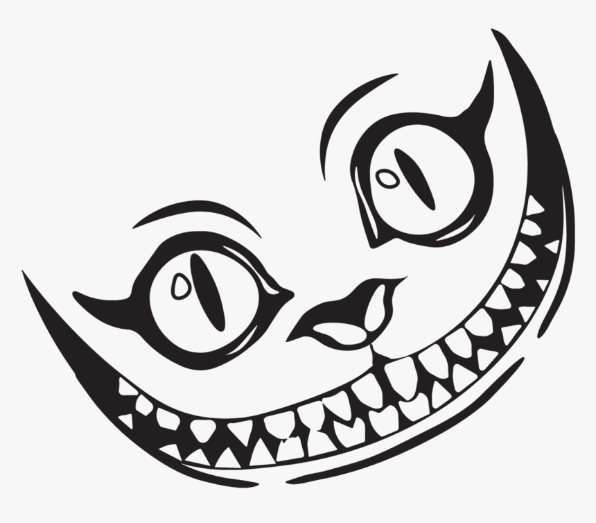 Transparent Grin Clipart Cheshire Cat Smile Drawing Hd Png Download Kindpng
