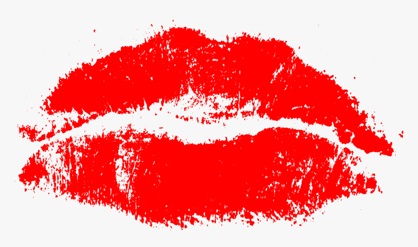 Red Kiss Print - Red Transparent Kiss Print, HD Png Download, Free Download