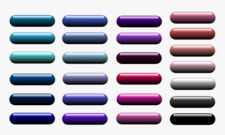 Web Buttons Png - Colorfulness, Transparent Png, Free Download