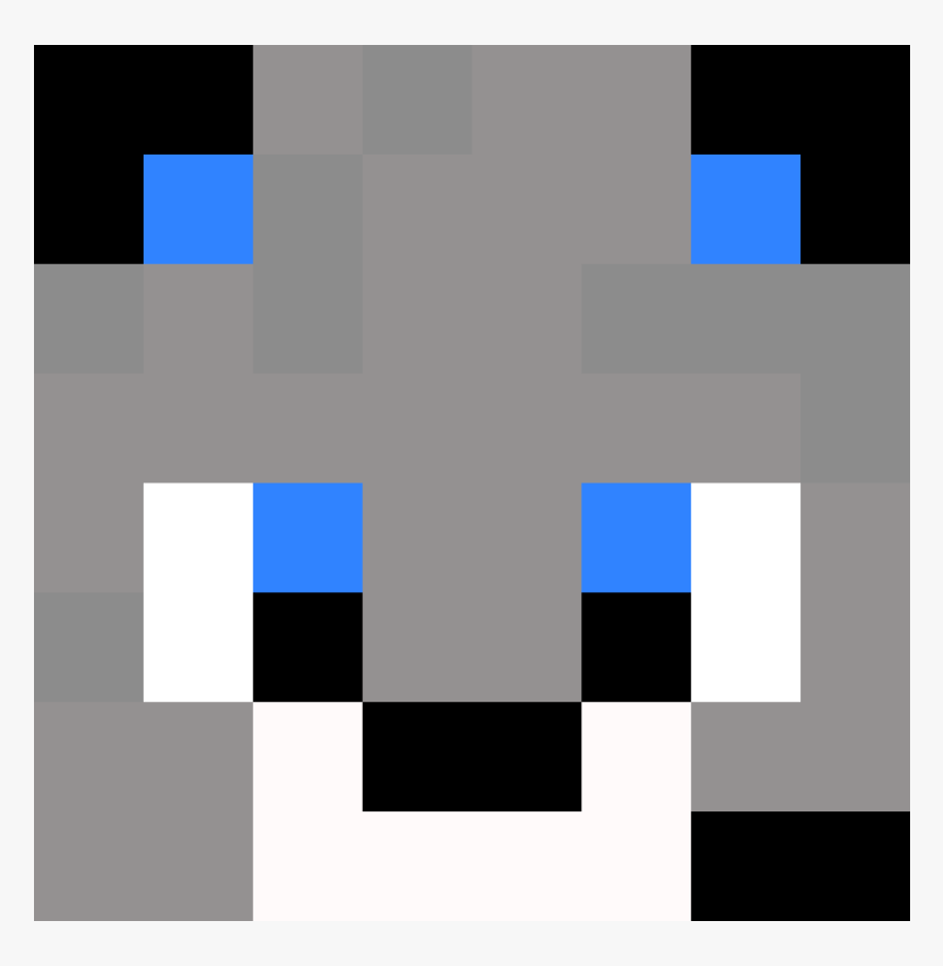 Wolf Face Pixel Art, HD Png Download, Free Download
