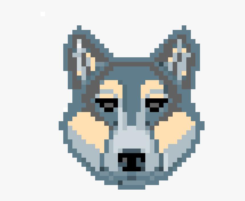 Wolf Head Pixel Art, HD Png Download, Free Download