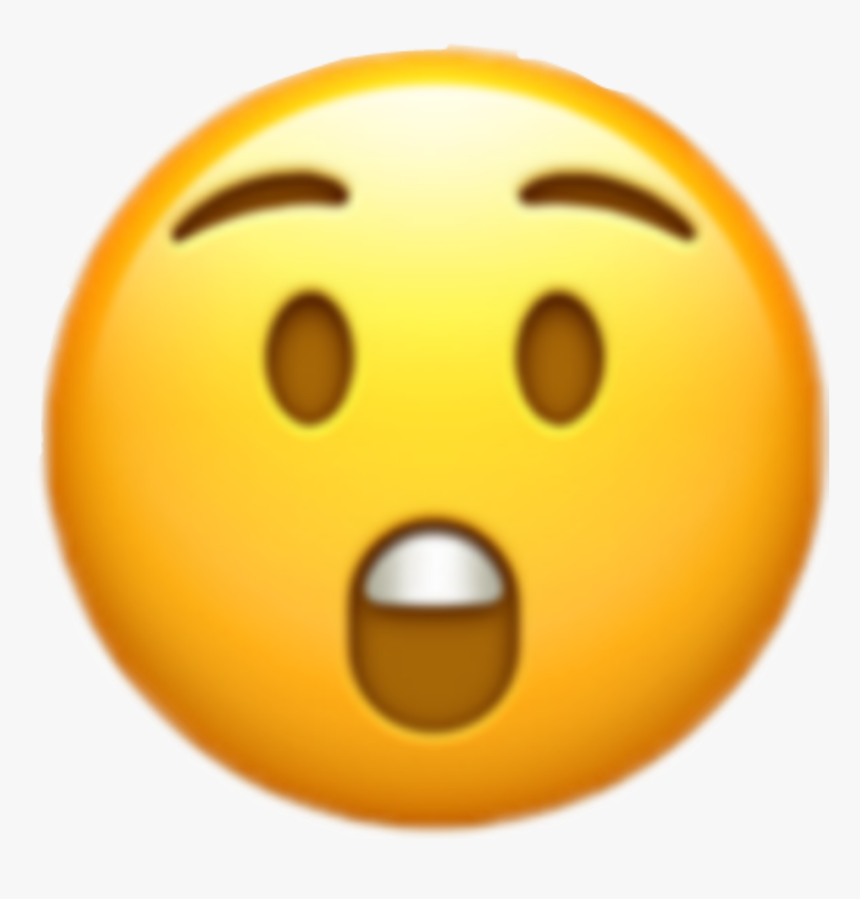 #iphone #emoji #emojis #iphoneemoji #omg #emojisticker - Printable Surprised Emoji, HD Png Download, Free Download