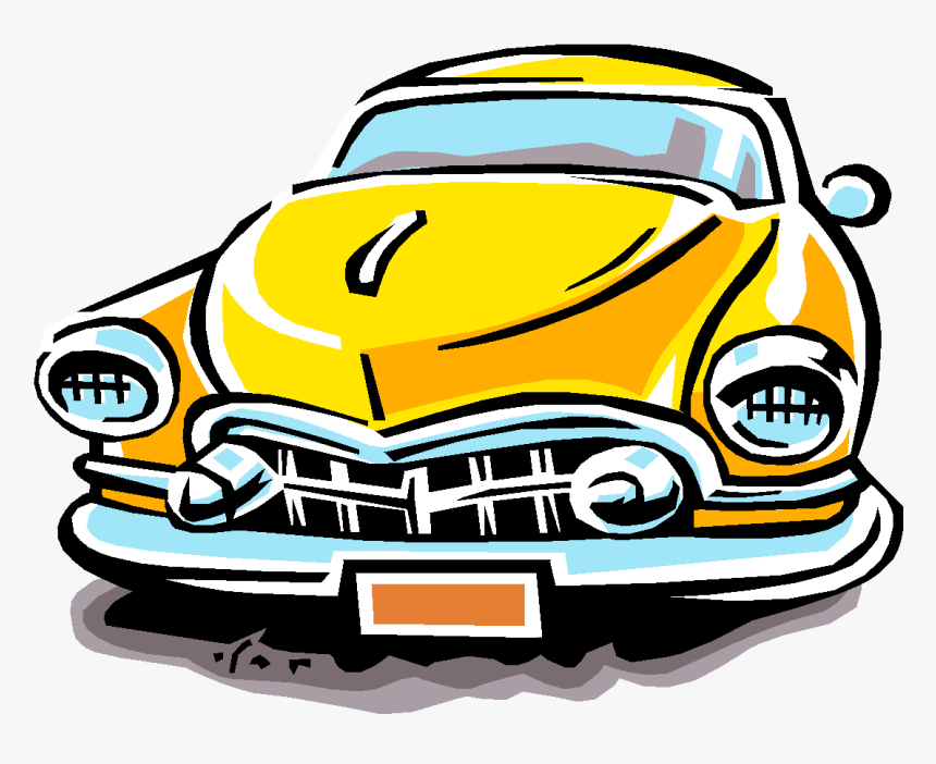 Cars Clip Classic Car - Old Yellow Car Clipart Png, Transparent Png, Free Download