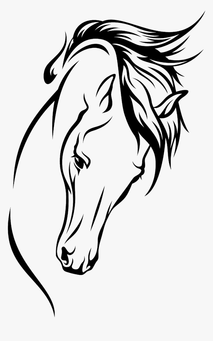 Arabian Horse Drawing Silhouette Clip Art Head Arabian Horse Silhouette Hd Png Download Kindpng