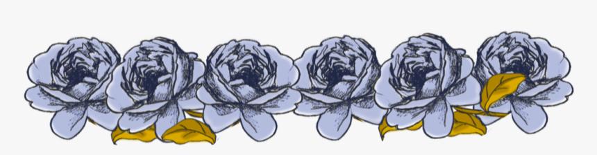 Rose Border Png - Vintage Flower Blue Border, Transparent Png, Free Download