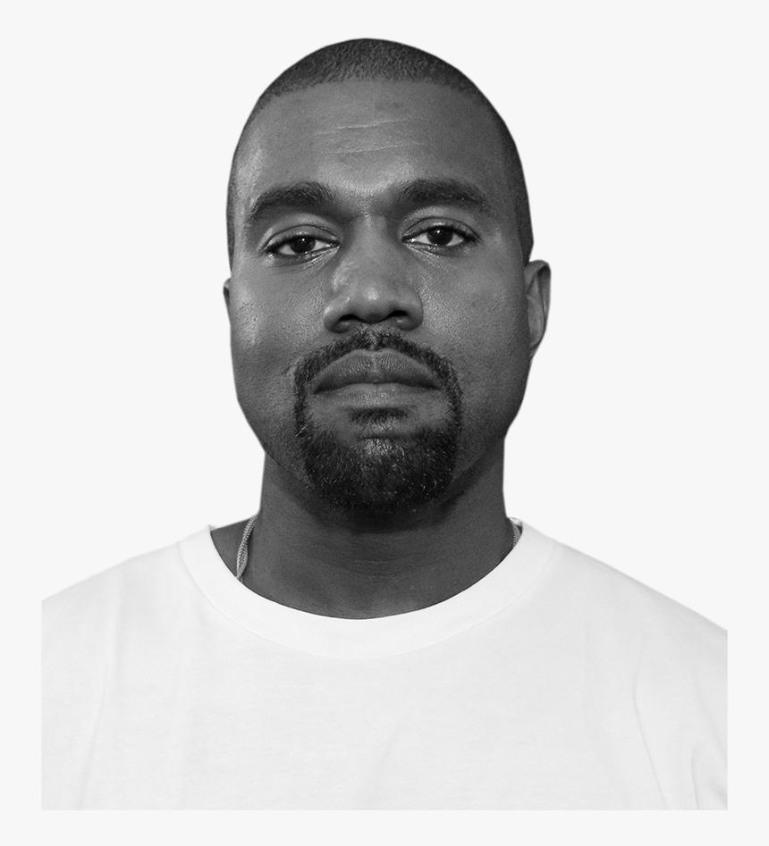 Kanye Face Png Kanye West Black And White Transparent Png Kindpng