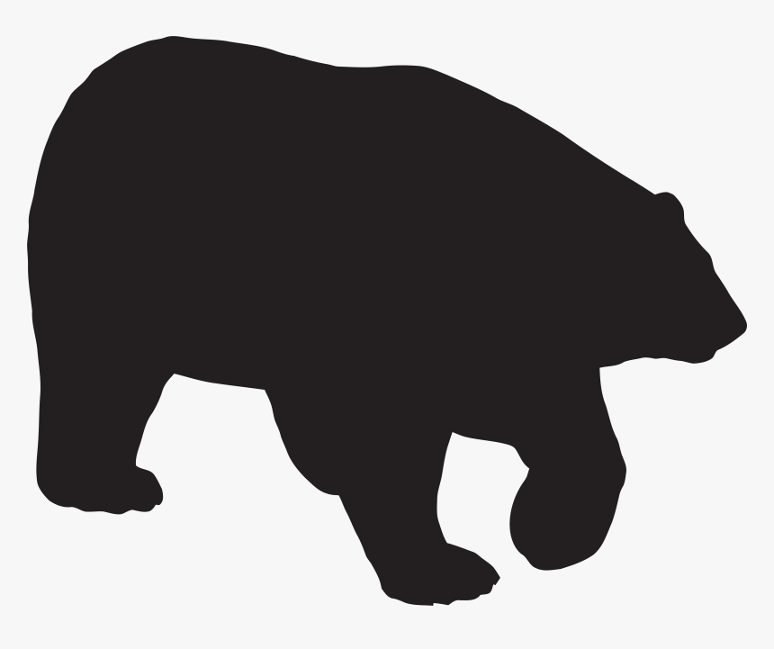 Grizzly Bear Silhouette Clip Art, HD Png Download, Free Download