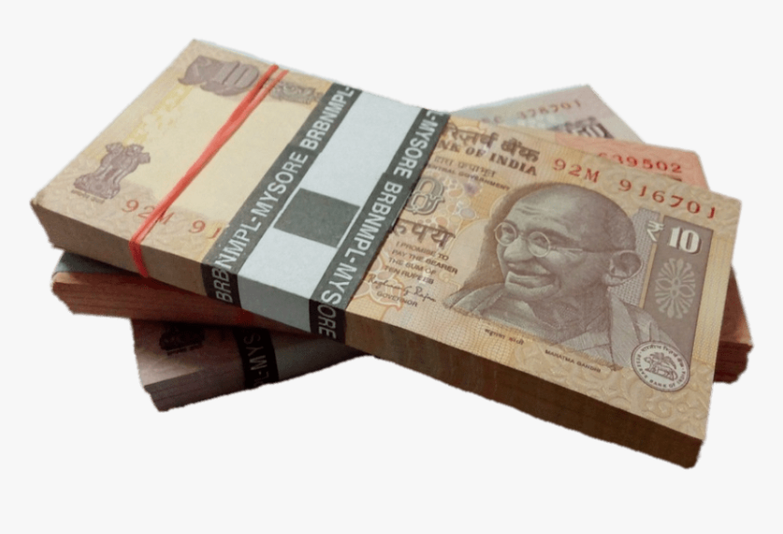 Stacks Of Rupee Notes - Transparent Indian Rupee Png, Png Download, Free Download