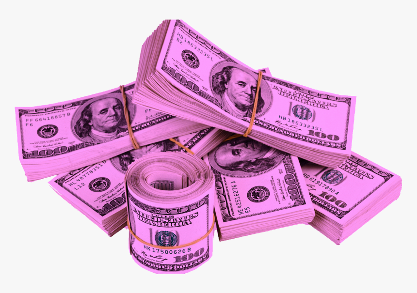#bands #money #stacks #$ #dollarsign #bills #hundreds - Pack Of Money Png, Transparent Png, Free Download
