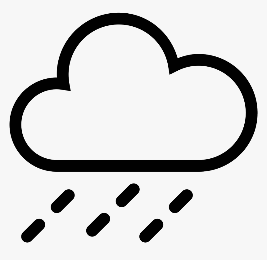 This Is A Drawing Of A Rain Cloud That Is Flat On The - Bad Weather Icon Png, Transparent Png, Free Download