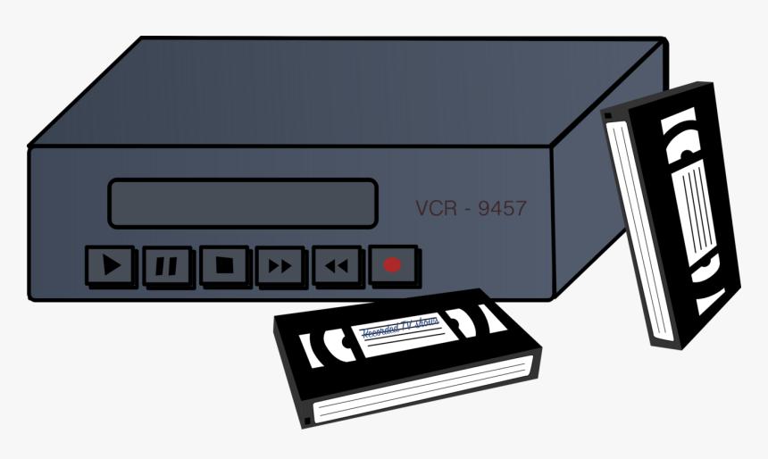 Transparent Cassette Tape Clipart - Vhs Player Clip Art, HD Png Download, Free Download