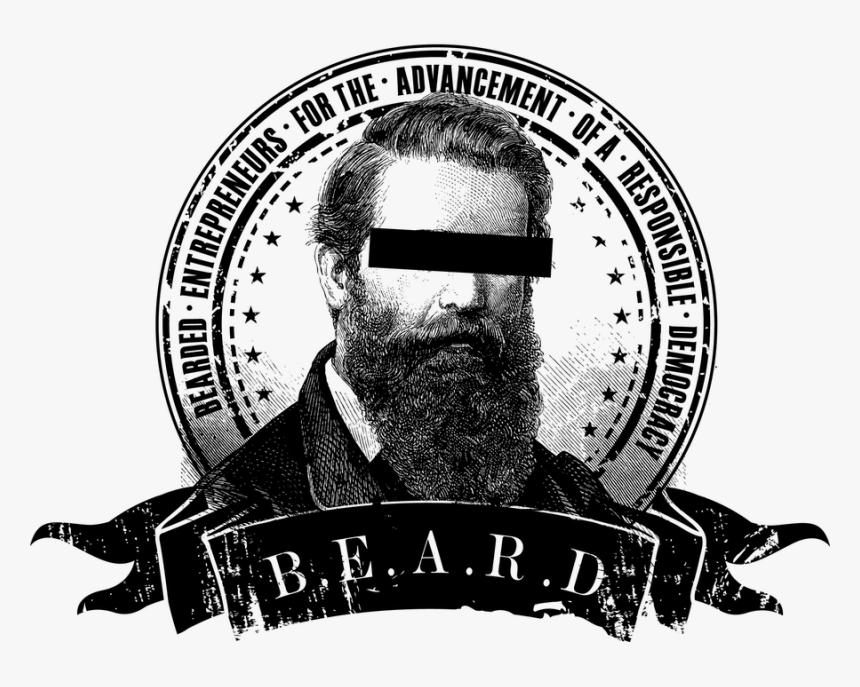 Beardlogo - Monochrome, HD Png Download, Free Download