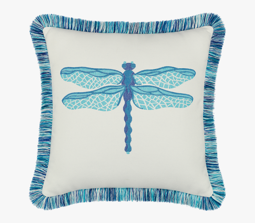 Dragonfly Pool - Dragon Fly Outdoor Pillows, HD Png Download, Free Download