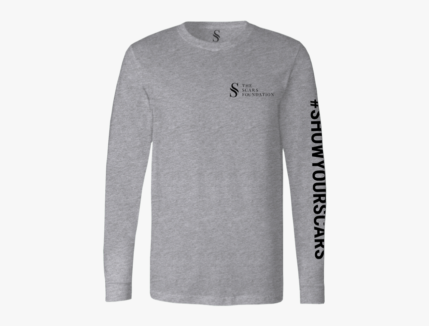Show Your Scars Long Sleeve Tee - Long-sleeved T-shirt, HD Png Download, Free Download