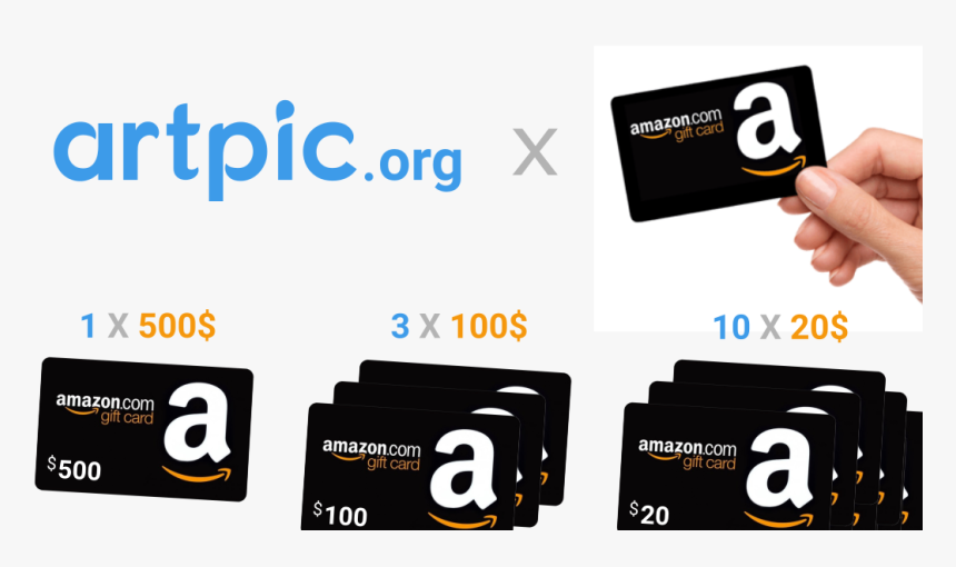 Artpic Amazon Gift Cards Giveaway - Gift Card, HD Png Download, Free Download