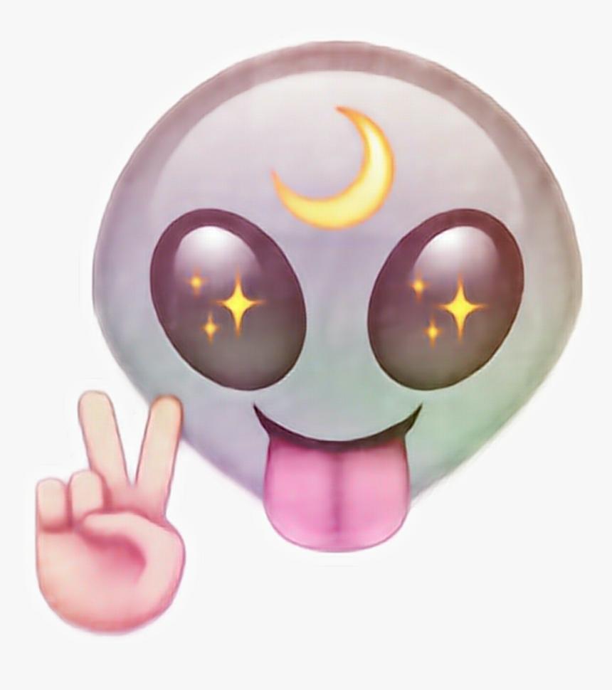 Transparent Moon Emoji Png - Alien Png Emoji, Png Download, Free Download