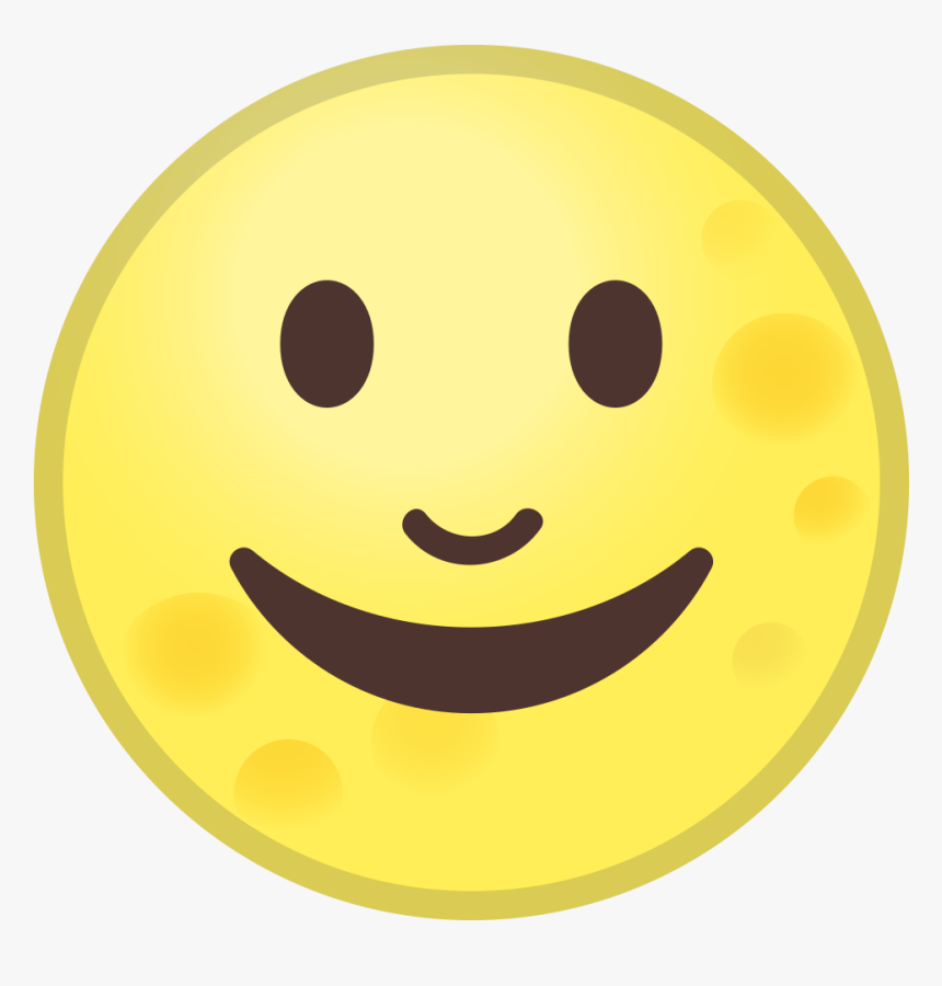 Full Moon Face Icon - Android Full Moon Emoji, HD Png Download, Free Download