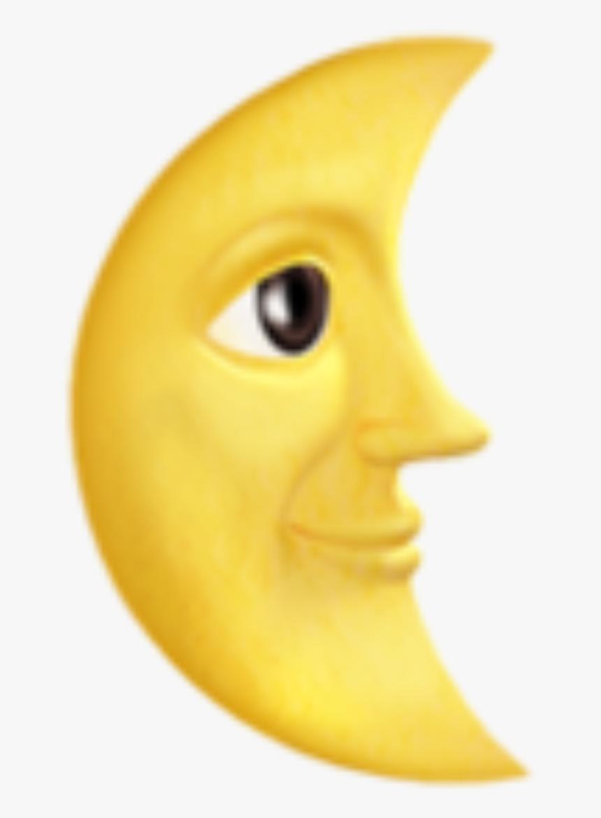 Moon Emoji Text - Moon Emoji Png, Transparent Png, Free Download
