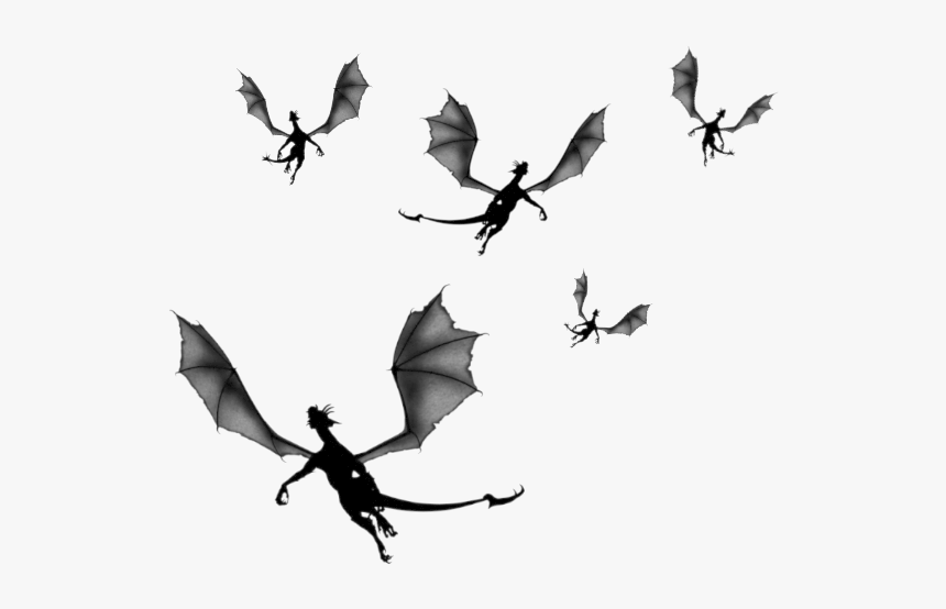 Game Of Thrones Flying Dragon Clipart Silhouettes Image - Game Of Thrones Dragon Silhouette, HD Png Download, Free Download