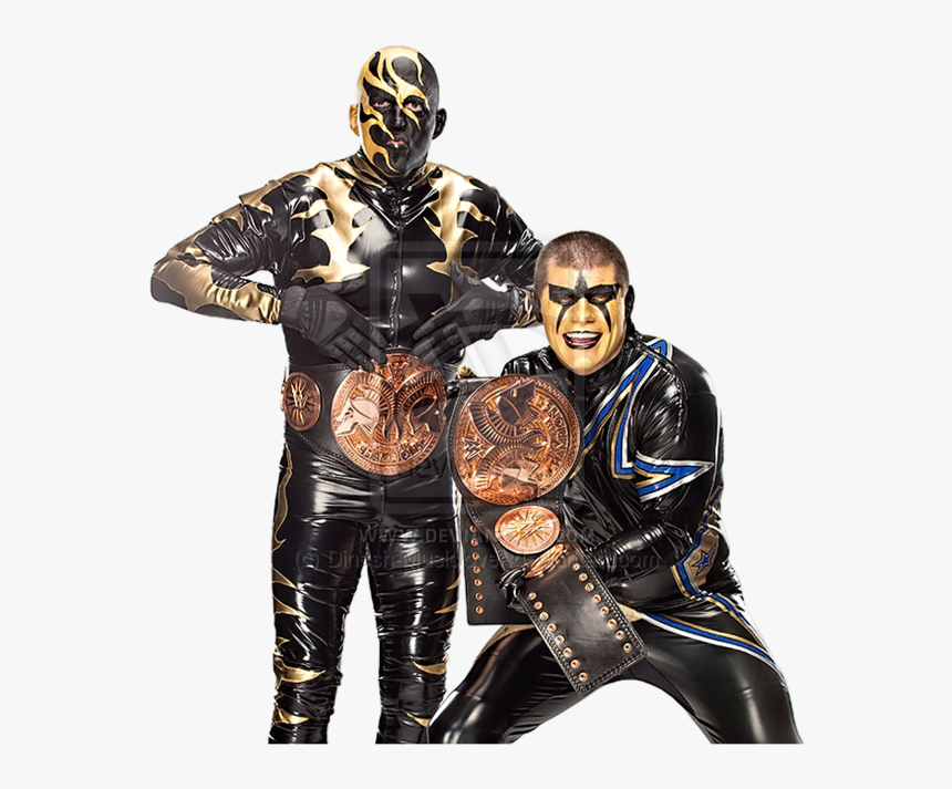 Wwe Tag Team Championship Gold Stardust Render By Dinesh-musiclover - Goldust Tag Team Champion, HD Png Download, Free Download