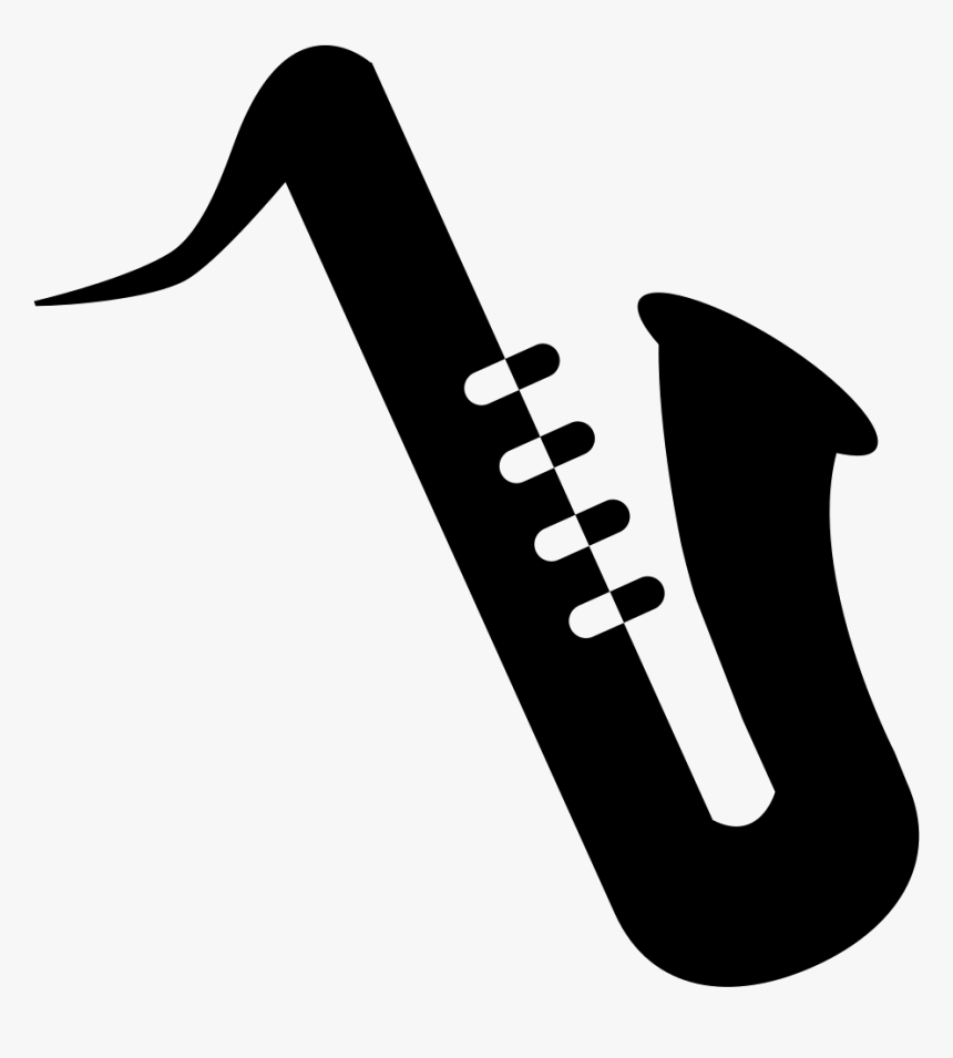 Saxophone Silhouette Png, Transparent Png, Free Download