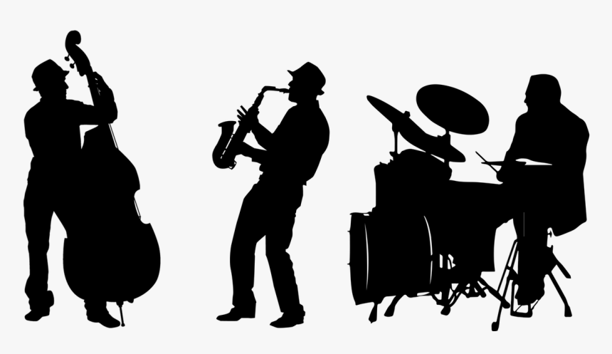 Saxophone Silhouette Png -jazz Band Silhouette Png - Jazz Band Silhouette Png, Transparent Png, Free Download