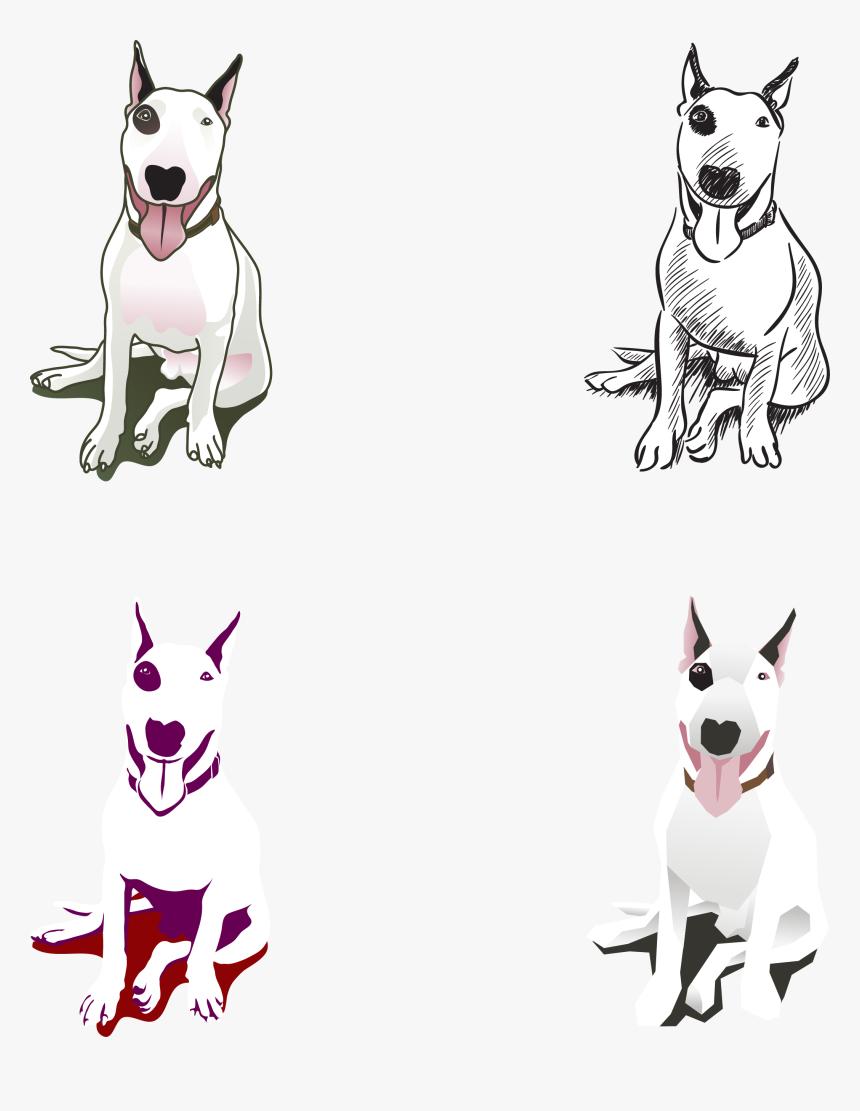 Cartoon Bull Terrier - Bull Terrier Vector Free, HD Png Download, Free Download