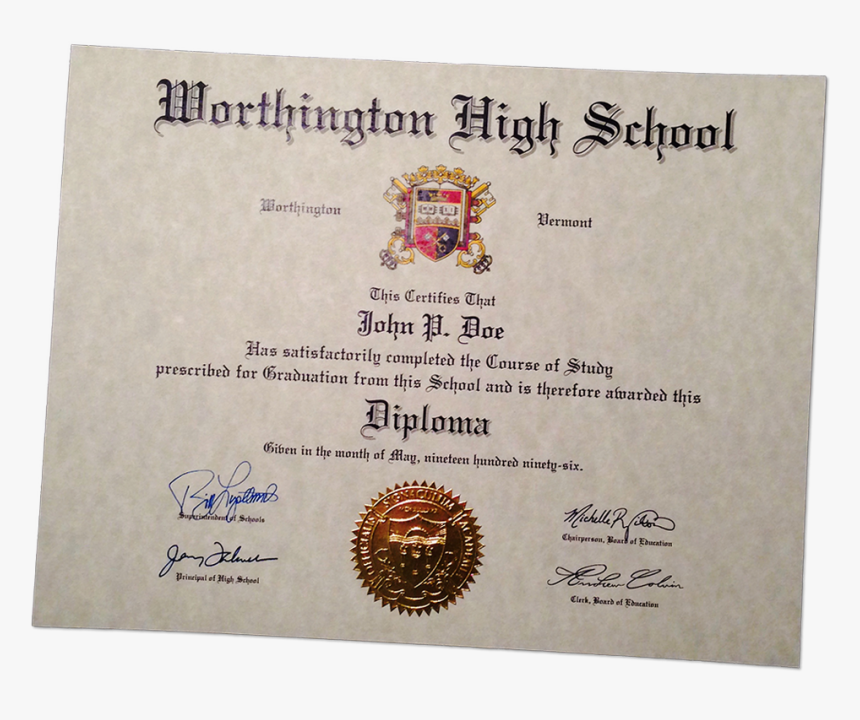 High School Diploma United States, HD Png Download, Free Download