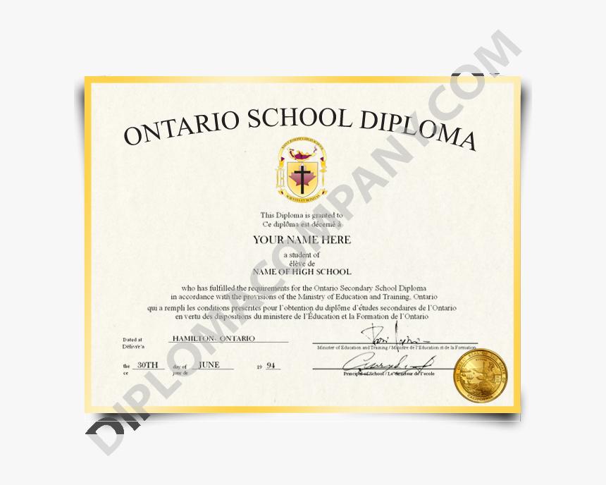 Fake High School Diploma Canada - Canadian High School Diploma, HD Png Download, Free Download