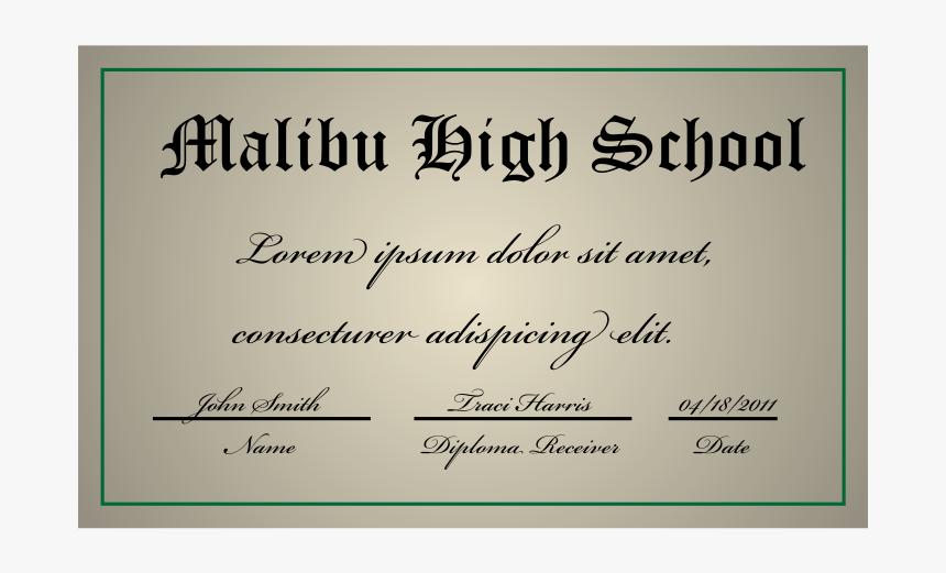 A High School Diploma - Arts School Diploma, HD Png Download, Free Download