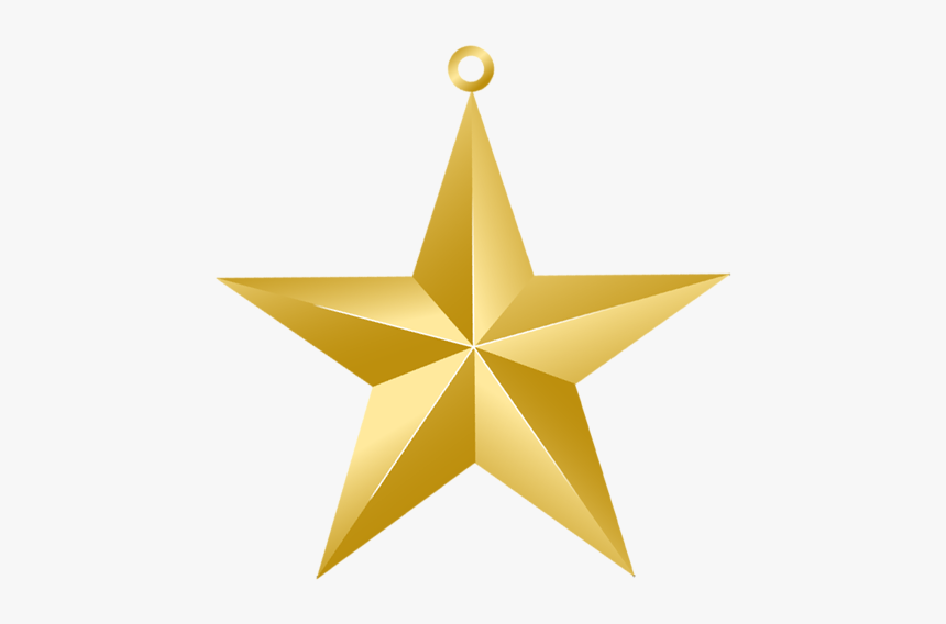 Christmas Gold Star Png - Christmas Star Ornament Png, Transparent Png, Free Download