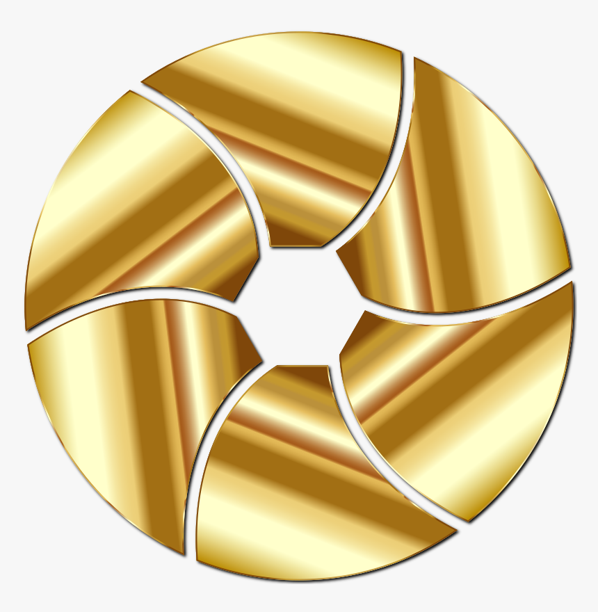 Transparent Shutter Clipart - Gold Camera Icon Png Transparent, Png Download, Free Download