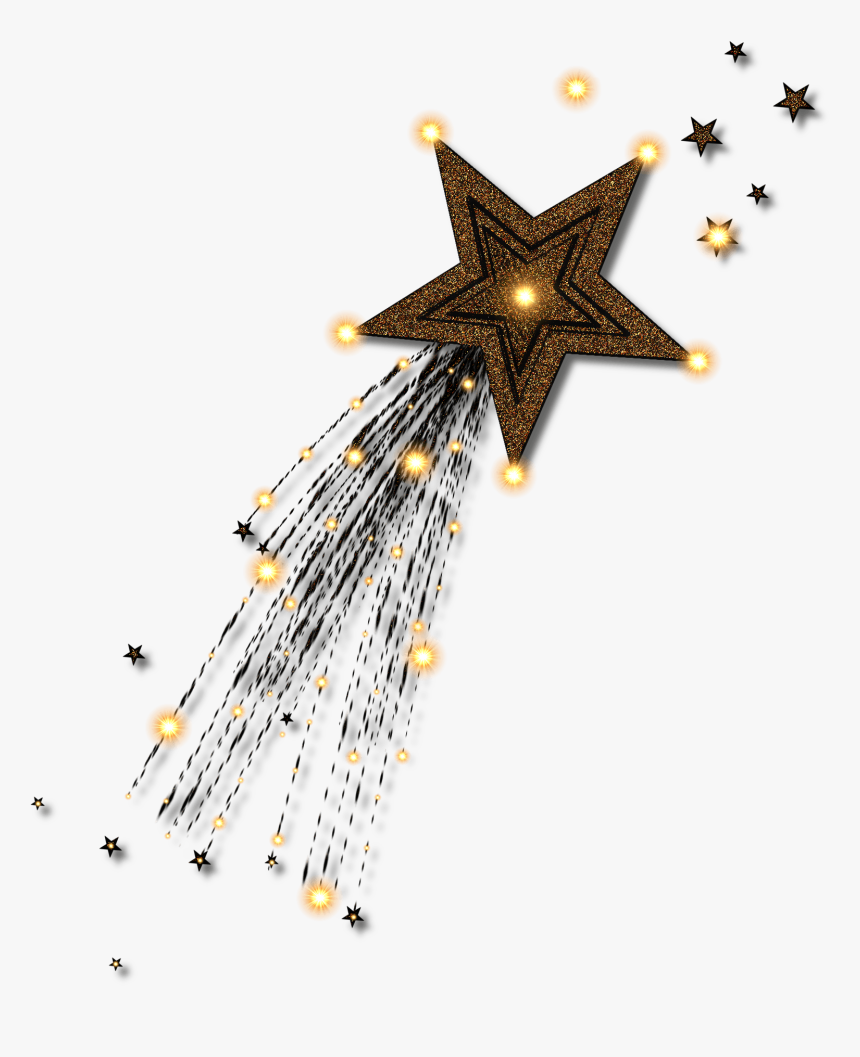 Picture Of A Gold Star - Clip Art Golden Shooting Star, HD Png Download, Free Download