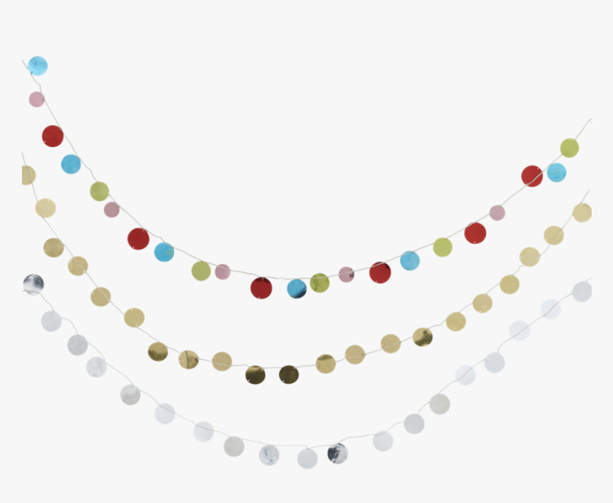 Sequin Garland In Gold, Silver Or Mixed Colours By - Sequin, HD Png Download, Free Download