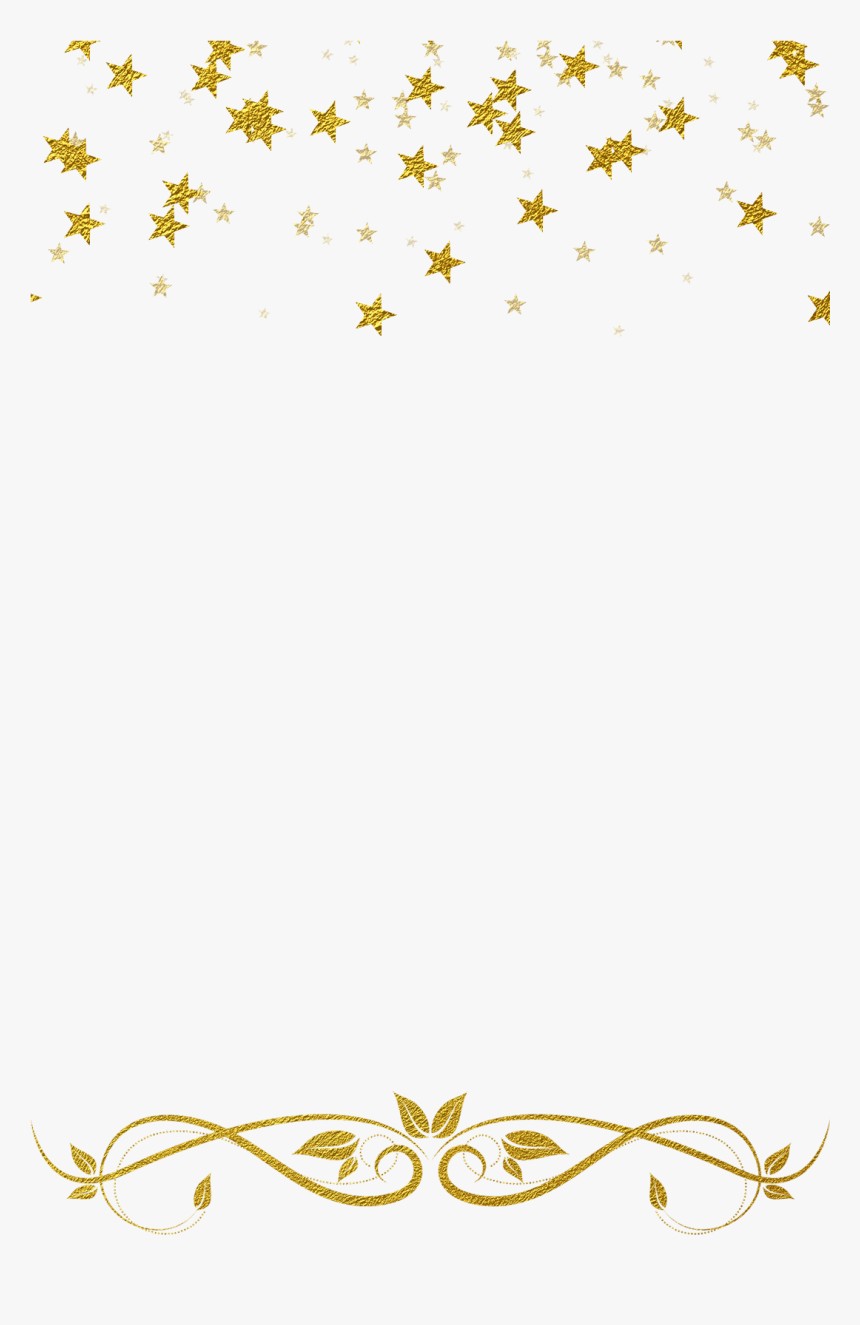 Transparent Gold Glitter Border Png - Gold Star Border Clipart, Png Download, Free Download
