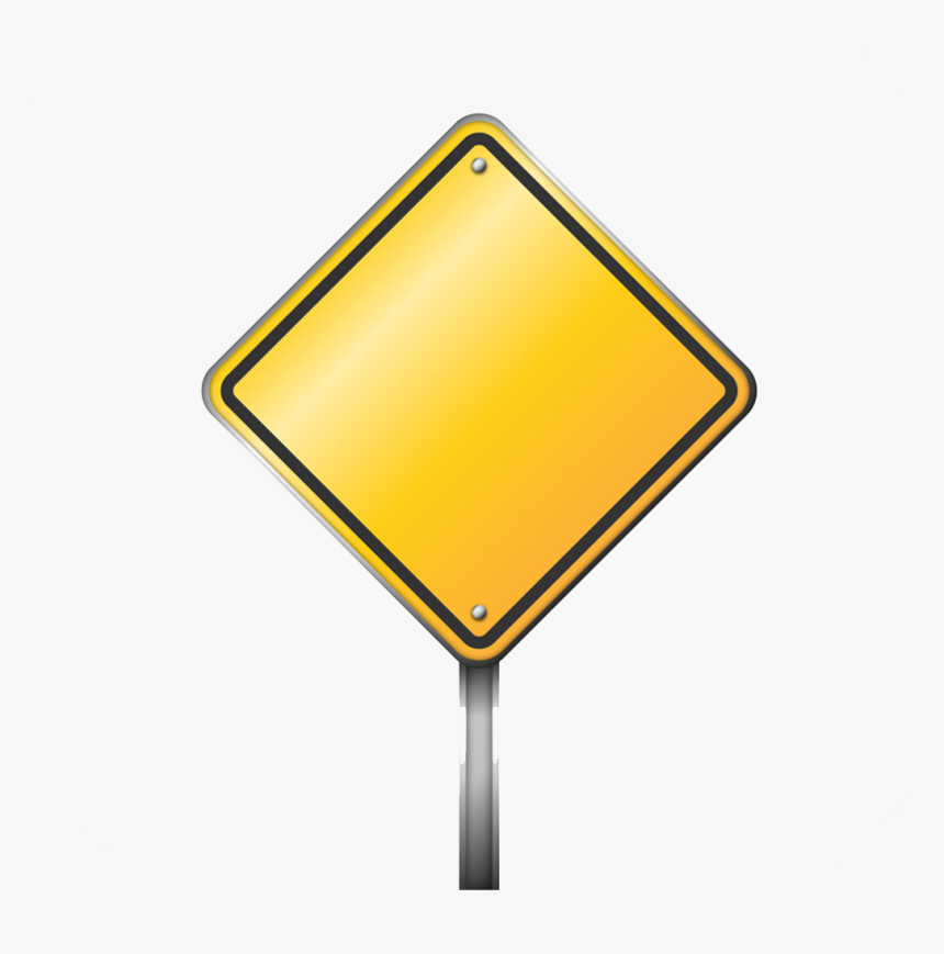 Traffic Sign Warning Sign Icon - Transparent Background Blank Sign Png, Png Download, Free Download