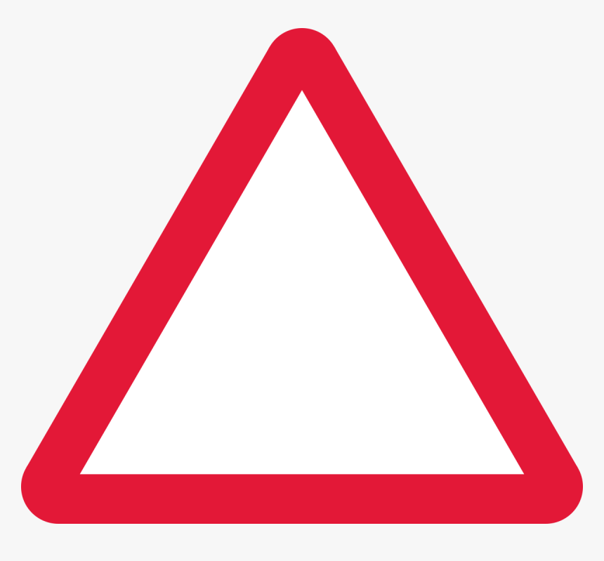 Uk Traffic Sign Blank Triangle Road Sign - Blank Triangle Road Sign, HD Png Download, Free Download