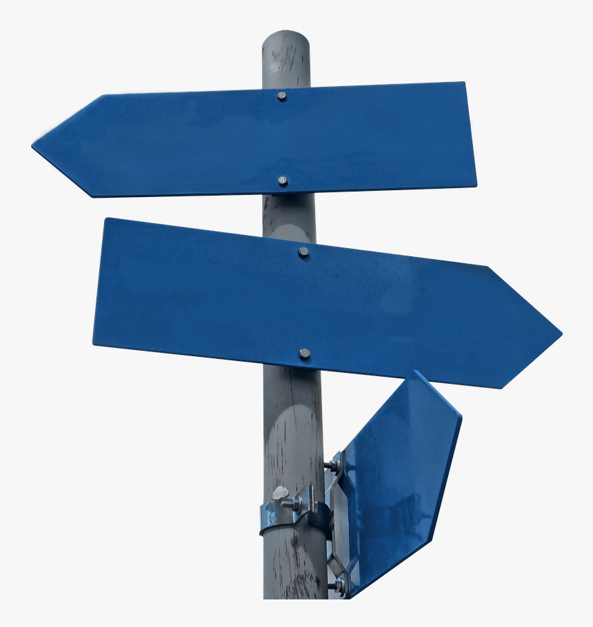 Signpost, Road Signs, Sign, Post, Direction, Way - Transparent Background Street Sign Blanks, HD Png Download, Free Download