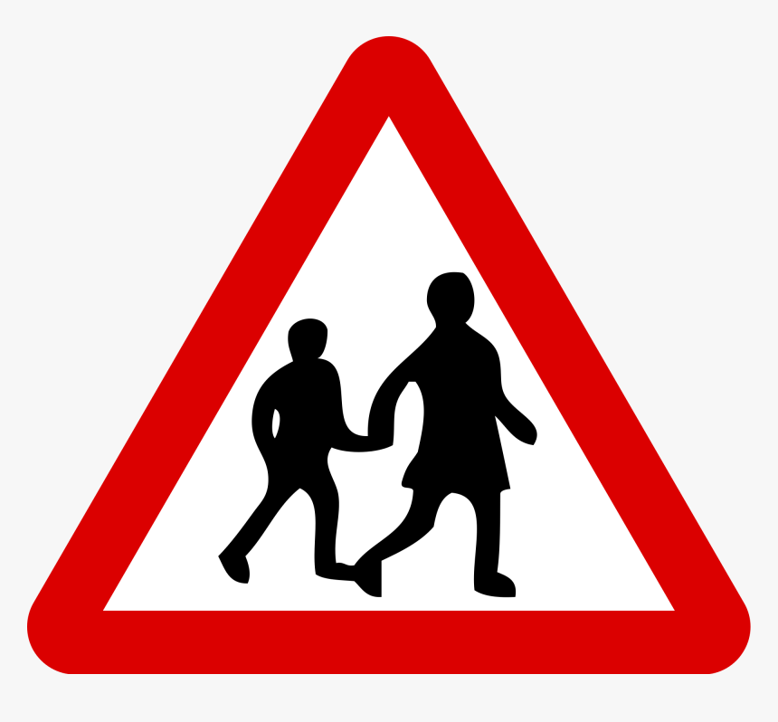 Transparent Blank Street Signs Png - School Crossing Road Sign, Png Download, Free Download