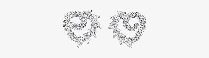 Garland By Harry Winston, Heart Diamond Earrings - Earrings, HD Png Download, Free Download
