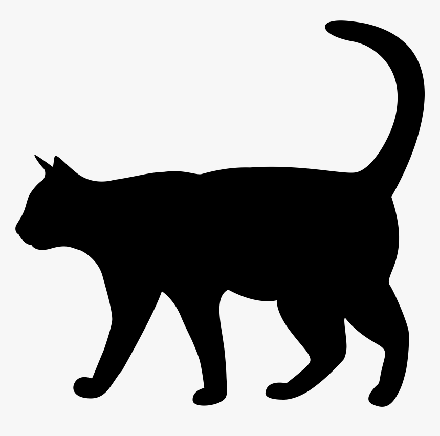 Kitten Silhouette Transparent Cat Free Png Hq Clipart Png Download Kindpng