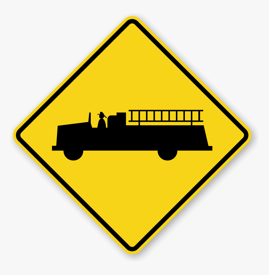 Transparent Blank Street Signs Png - Emergency Vehicles Warning Sign, Png Download, Free Download