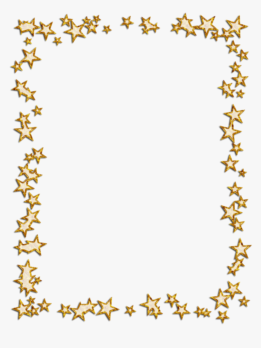 Borders And Frames Picture Frames Star Photography - Gold Star Border Png, Transparent Png, Free Download