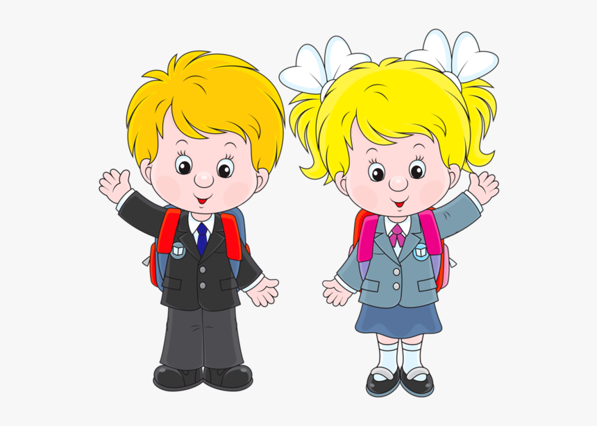 Personnages, Illustration, Individu, Personne, Gens - Boys And Girls In School Clip Art, HD Png Download, Free Download