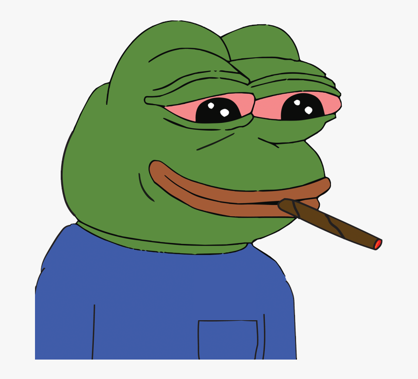 Stoned Pepe - Pepe The Frog Blunt, HD Png Download, Free Download