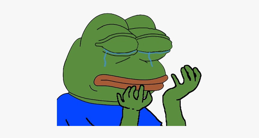 Frog - Pepe Frog Crying Png, Transparent Png, Free Download
