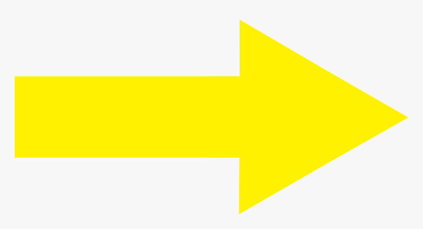 Yellow Arrow Right Wikimedia Commons - Arrow Point To Right, HD Png Download, Free Download