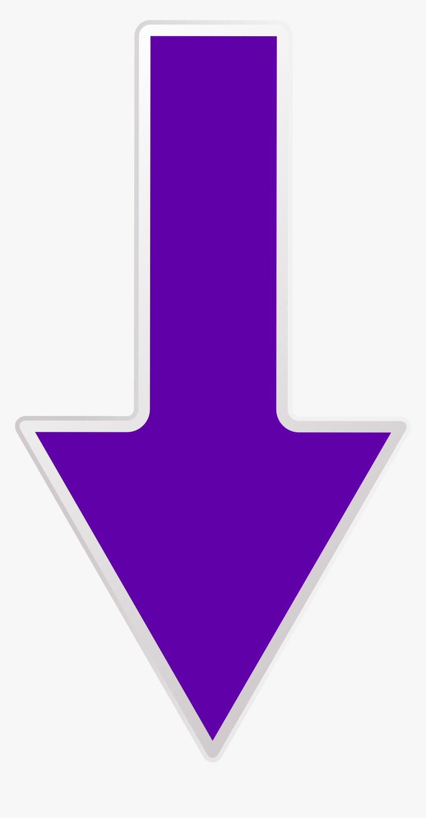 Arrow Purple Down Transparent - Purple Down Arrow Gif, HD Png Download, Free Download